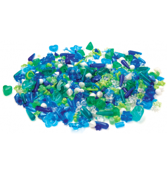 Korálikový mix - modrozelený