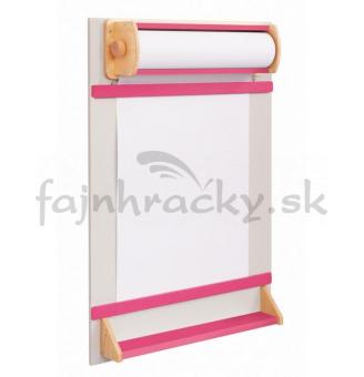 Tabuľa na papierovú rolku - ružová