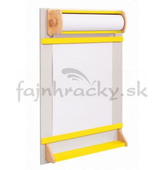 Tabuľa na papierovú rolku - žltá