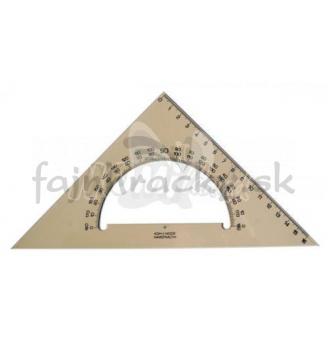 Pravítko trojuholník s uhlomerom