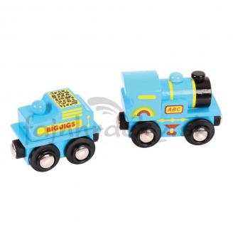 Modrá lokomotíva s tendrom