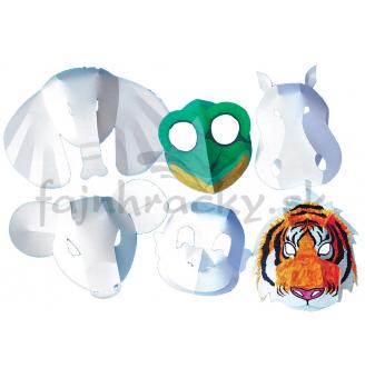 Divé zvieratá - papierové masky