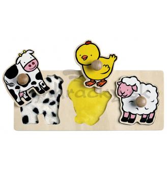 Vkladacie dotykové puzzle - Farma